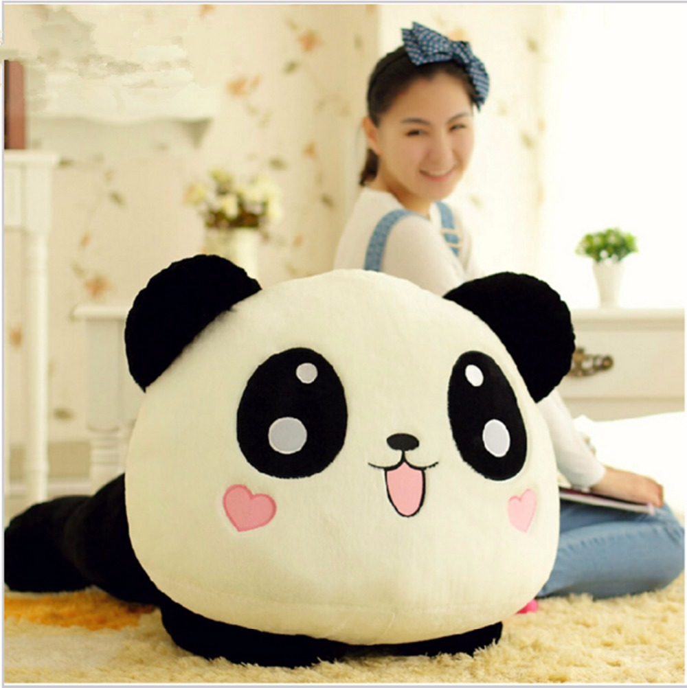 45cm Giant Panda Pillow Mini Plush Toys Stuffed Animal Toy Doll Pillow Plush Bolster Pillow Doll Valentine's Day Gift Kids Gift 40cm super cute plush toy panda doll pets panda panda pillow feather cotton as a gift to the children and friends