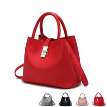 цена 2018 New Fashion Candy Women Bags Mobile Messenger Ladies Handbag 4 Colors PU Leather High Quality Luxury Shoulder Bucket Bag