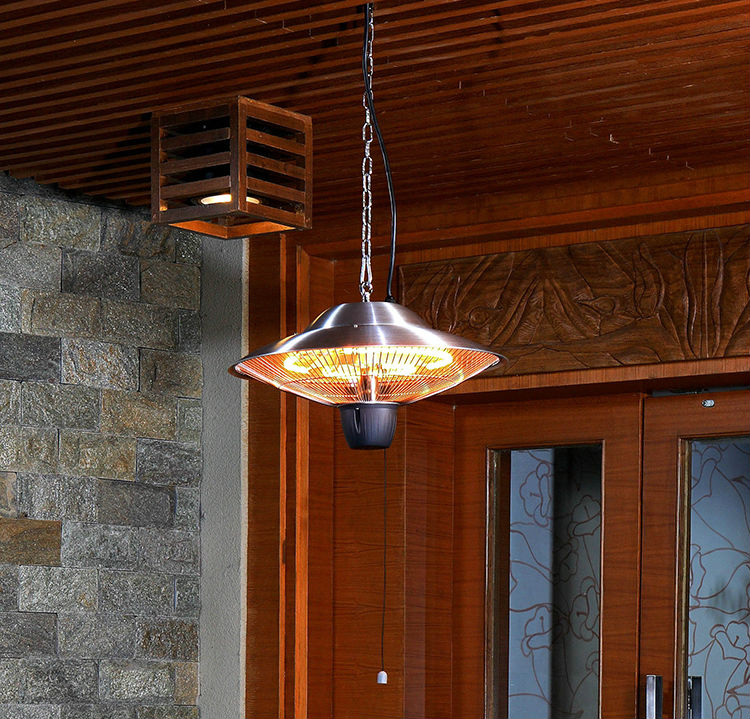 Drawstring Ceiling Hanging Electric Infrared Heaters Patio Indoor Outdoor  Waterproof Heaters 220 240V ROHS IP24 High Quality