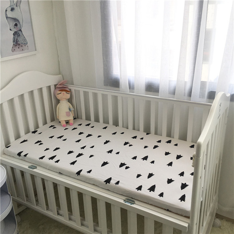 Baby Cotton bedding Fitted Sheet <font><b>Bed</b></font> Cover Bedding Cartoon Crib Mattress Protector Bedspread baby <font><b>bed</b></font> sheet for crib 130*70 CM