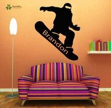 YOYOYU Wall Decal Vinyl Room Decoration Snowboarding Personalized Name Art Removeable  Sticker Boy Decor YO226