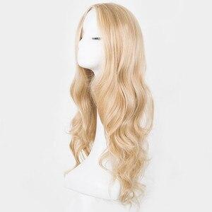 Image 2 - Парик для косплея Фэй шоу, Синтетические длинные кудрявые средние линии, светлые женские волосы, костюм для карнавала, Хэллоуина, вечеринки