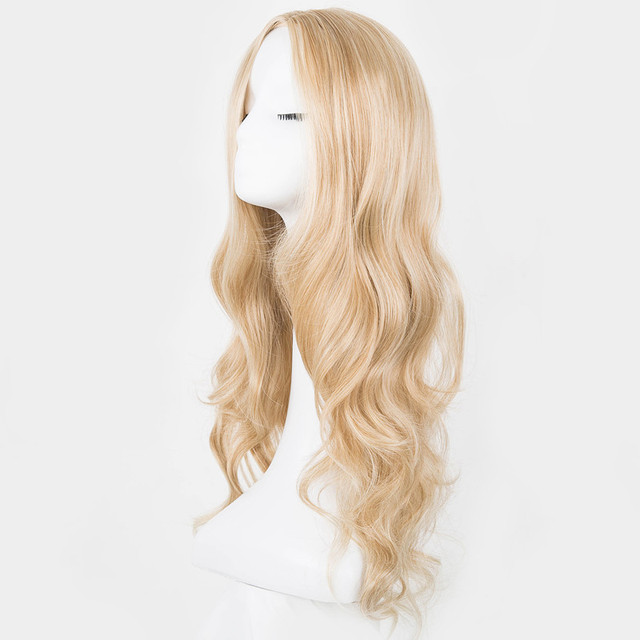 Synthetic Long Blonde Hair