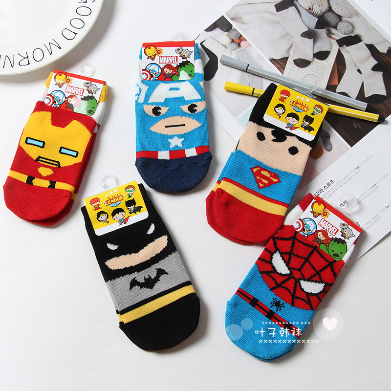 62f44a24cea9 Marvel DC Spiderman Cartoon socks fashion funny girls boys Novelty sock  spring autumn Comfortable breathable children's socks-in Men's Socks from  Underwear ...