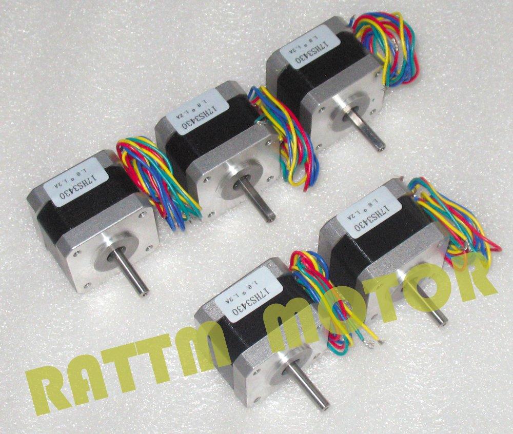 5pcs NEMA17 34MM/ 38 Oz-in CNC stepper motor stepping motor/1.2A nowodvorski eye spot graphite vi listwa
