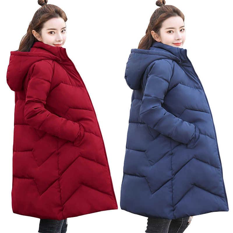 29a10cc02 Women Plus size 6XL Jacket Solid high collar Warm Overcoat Autumn ...