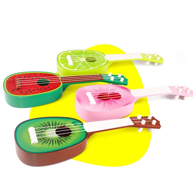 New Cute Toy Guitar Fruit Pattern Children Simulation 4 String Ukulele Educational Musical