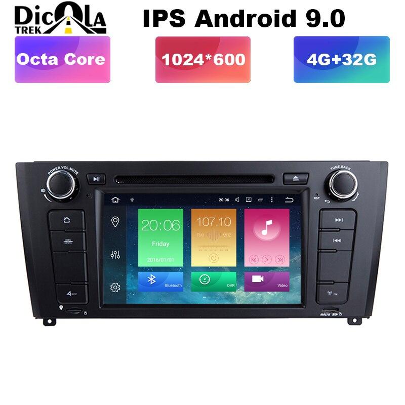 PX5 IPS AutoRadio 1 Din Android 9 lecteur DVD de voiture pour BMW 1 série E88 E87 E82 E81 I20 Navigation GPS Audio stéréo Wifi DAB + BT