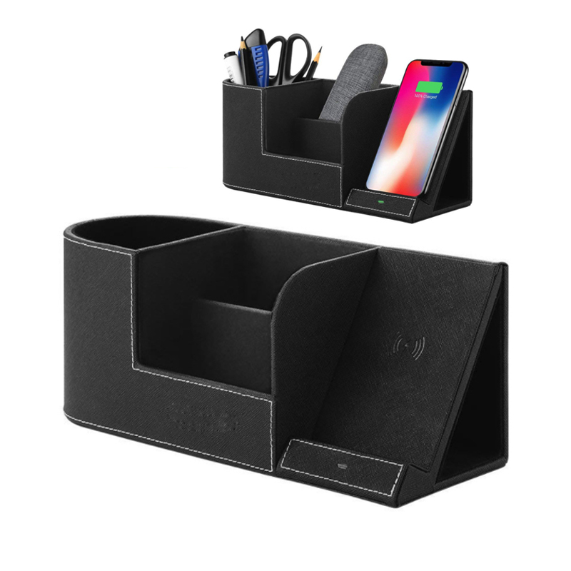 10W Qi Fast Wireless Charger Multi-function Pen Holder Office Supplies For IPhone XS Max XR X 8 Samsung S8 S9