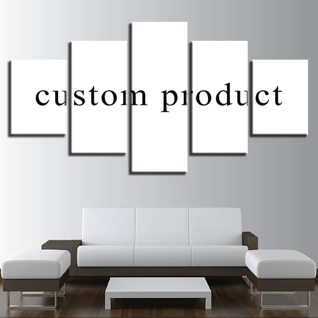 Embelish 5 Pcs Creative Art HD print wall painting for living room bedroom home decor custom made print your picture on canv ...