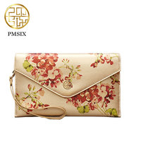PMSIX Gold Printed Wallet Female Fashion Autumn And Winter Women Classical Envelope Clutch Wallet Mini Evening