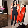 Black Color New Arrival Women's Full Length Sexy Bodycon Jumpsuit HL Fashion Bandage Jumpsuit High Quality