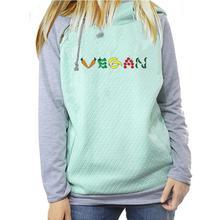 Vegan logo women's hoodie