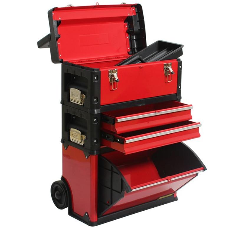 4 слоя отдельные Портативный многофункциональная тележка для инструментов Портативный Оборудования Комбинированная тележка для инструментов