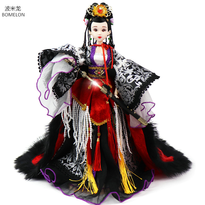 Handmade Song Dynasty Lady General Red Jade Chinese National Heroine Ancient Dolls 1/6 Bjd Doll Toys for Girls Gifts Brinquedos handmade chinese ancient doll tang beauty princess pingyang 1 6 bjd dolls 12 jointed doll toy for girl christmas gift brinquedo