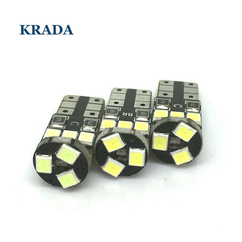 KRADA 1x T10 W5W car canbus LED Interior Bulbs DRL Car External Light Wedge Clearance Parking