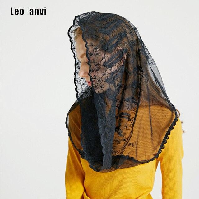 3a091c62 Leo anvi Orthodox Church Feather embroidery scarf Lace Head Cover Catholic  Chapel Mantilla Veils Robin Nest Lane Mass Veil