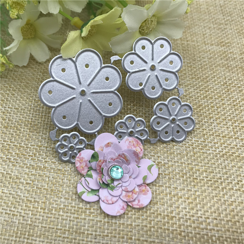 Flower Metal Cutting Die Stencil For DIY Scrapbooking Album Paper Card Decor Craft Embossing Die
