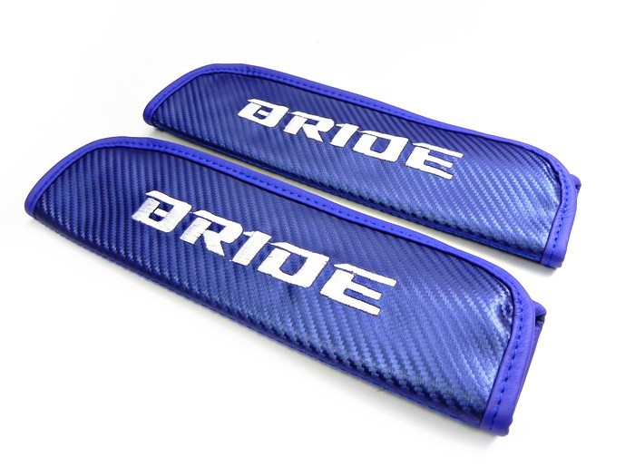 Carbon seat belt cover Bride Blue (2)