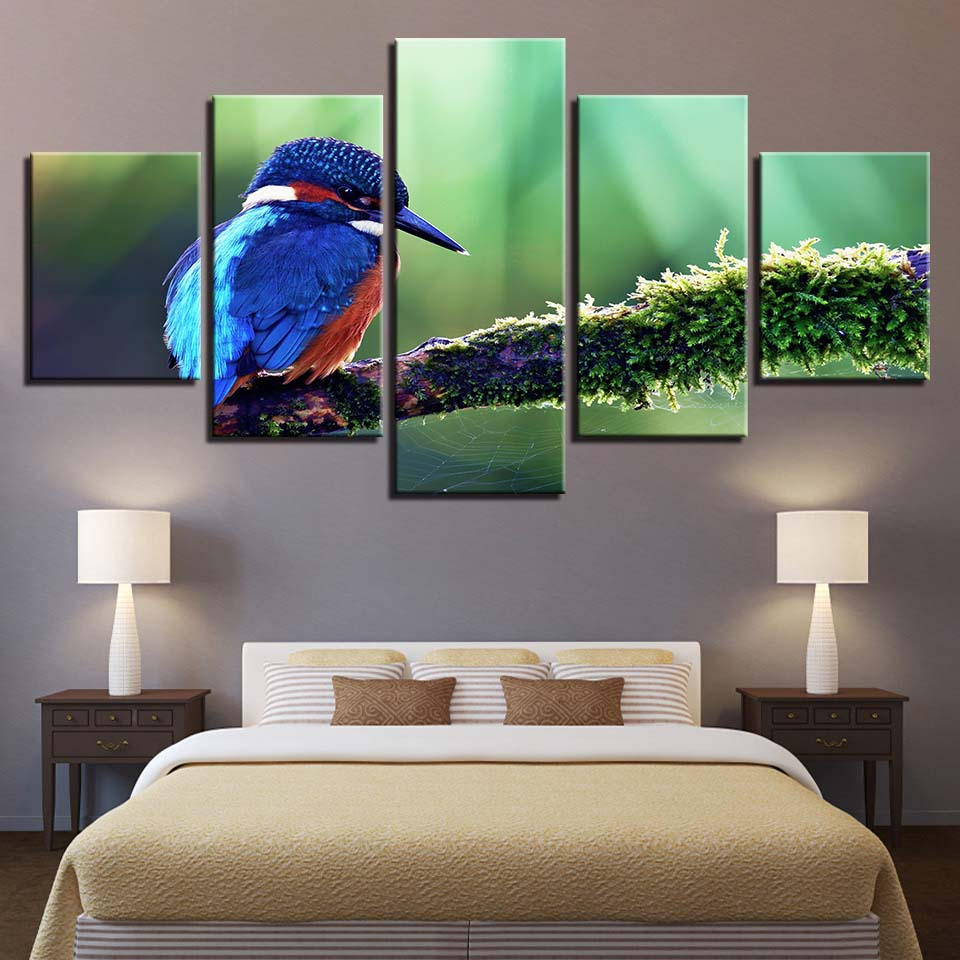 Canvas Painting HD Prints Home Decoration 5 Pieces Bird Animal Wall Art Modular Pictures Kids Bedside Background Artwork Poster