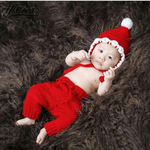 39608509e US $11.38 5% OFF|Crochet Newborn Red Costume Cute Baby Hat Pants Set  Newborn Photography Props Baby Boy Photo Props Infant Outfit for Photo  Shoot-in ...