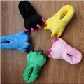 Free shipping 2014 new Love Stitch apartment dinosaur cartoon paw shoes super soft warm cotton slippers