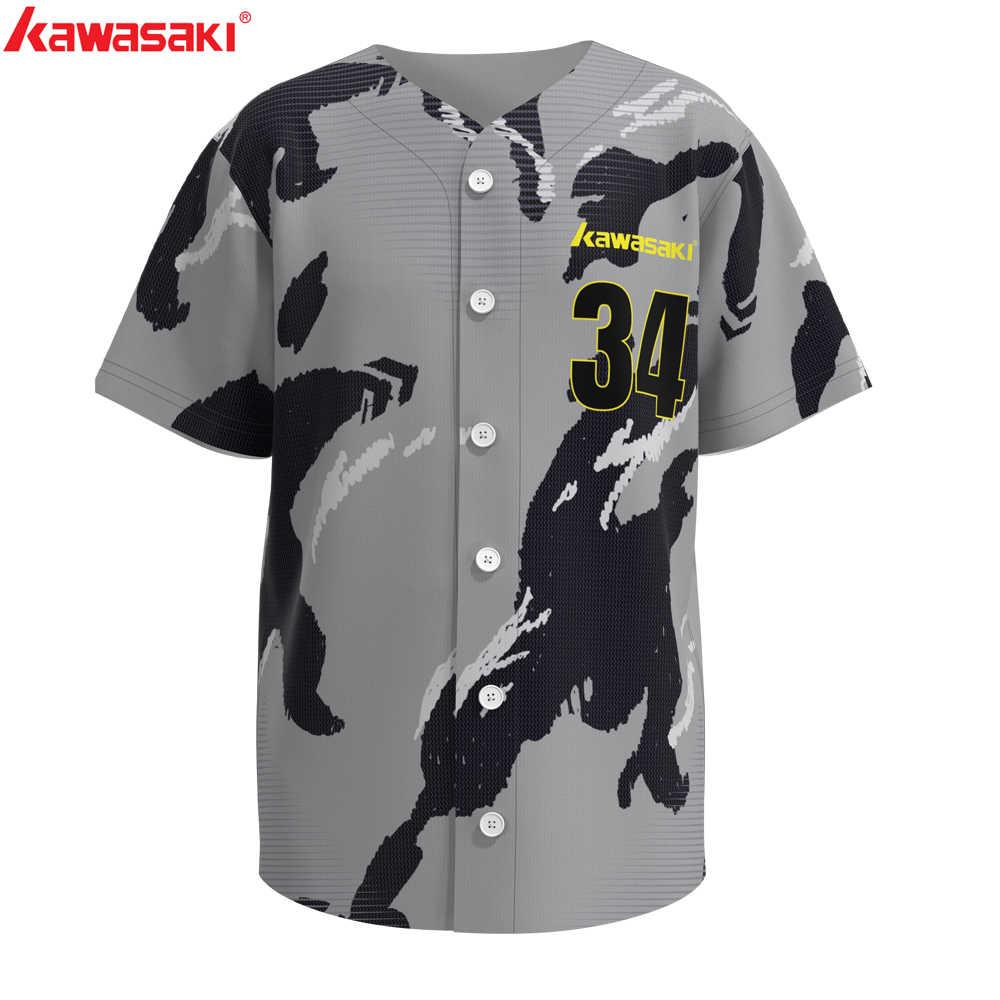 Kawasaki Custom männer Klassische Fans Baseball Jersey Praxis Top Atmungsaktiv Schnell Trocknend Sport Training Softball Trikots Shirt