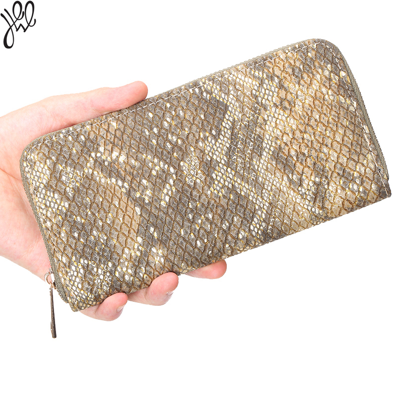 цена на Snake Skin Women Wallet Long Super High Quality Money Bag For Lady European Style Leather Money Wallet Coin Card Holder 500512
