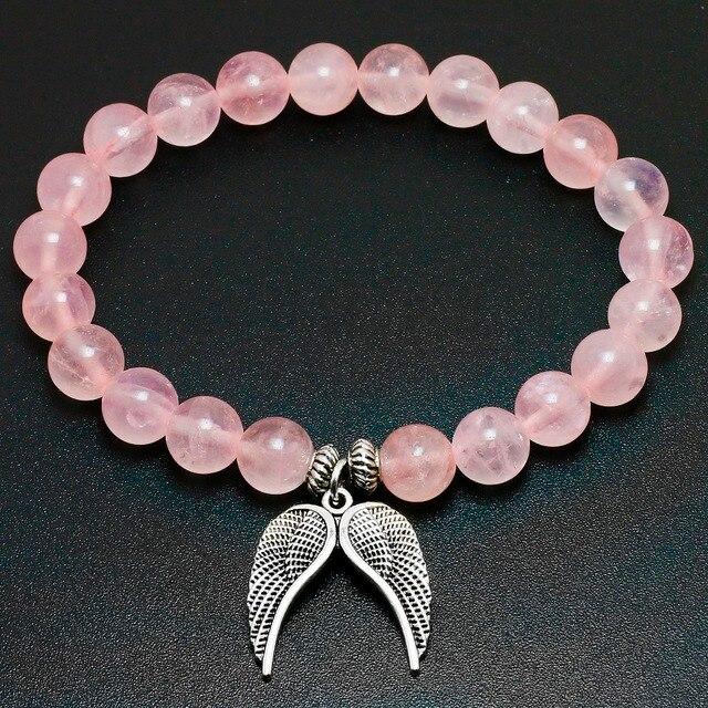 Bracelet En Quartz Rose Naturel