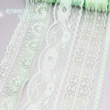 (10 yards/roll) di luce di colore verde del merletto del nastro del tessuto della decorazione del regalo materiale di imballaggio