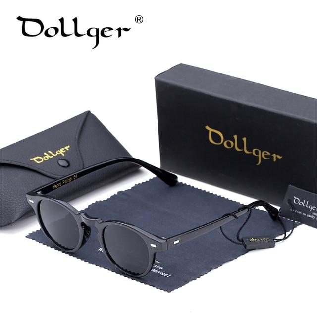 Dollger Vintage Retro Round Sunglasses Black For Men New Luxury Womens Sunglasses 2016 Brand Designer UV400 Oculos De Sol D26