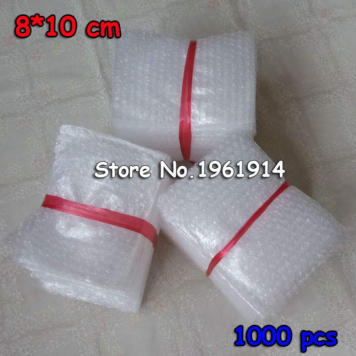 8 10cm 1000Pcs Cushioning Bubble Bags Bubble Protective Wrap Bolsa Burbuja Packaging Inflate Foam Packing Verpackungen