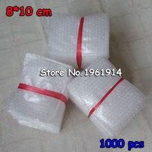 Bolsas de burbujas de amortiguación, 8x10cm, 800 Uds., Bolsa protectora de burbujas, Bolsa de embalaje de Burbuja, espuma de inflado, embalaje Verpackungen Schaum