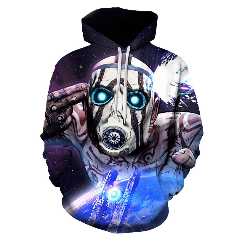 <font><b>Borderlands</b></font> 3 Hoodie Men/Women Sweatshirt Harajuku Streetwear Games 3D Print Cosplay Hooded Pullover Mens Hoodies Sweatshirts image