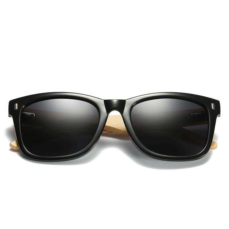 RICHPER Bamboo Polarized Sunglasses Men Vintage Retro Wooden - Skin para minecraft de oculos