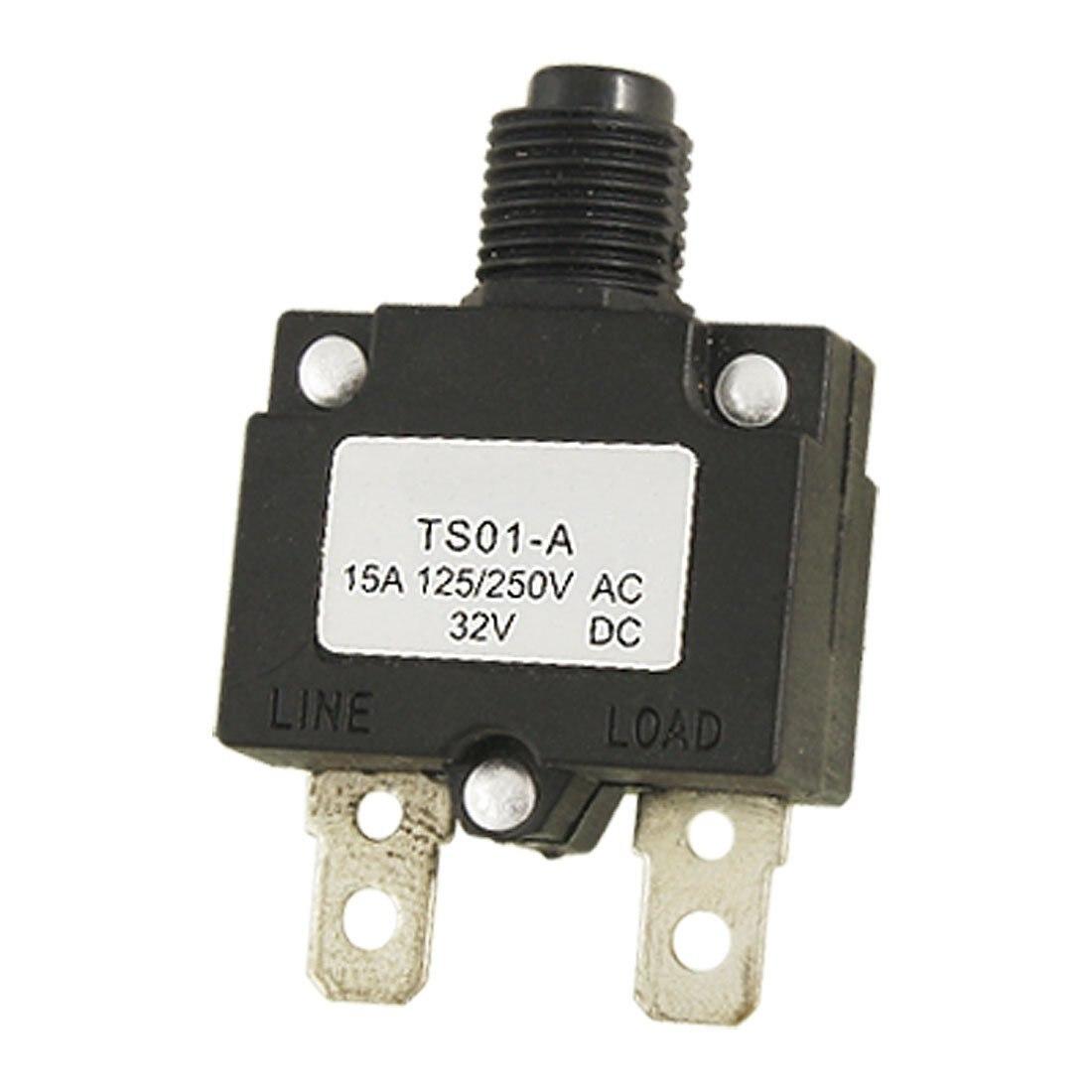 New Plastic Metal Air Compressor Circuit Breaker Overload Protector Ac15a Image