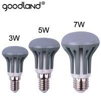 Goodland-bombilla LED regulable para iluminación del hogar, lámpara E14, E27, SMD2835, 3W, 5W, 7W, 220V, 240V, R39, R50, R63