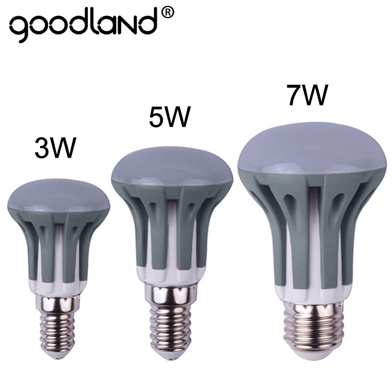 Goodland LED Bulb R39 R50 R63 LED Lamp Dimmable E14 Ampoule E27 SMD2835 Lampada 3W 5W 7W 220V 240V For Home Lighting