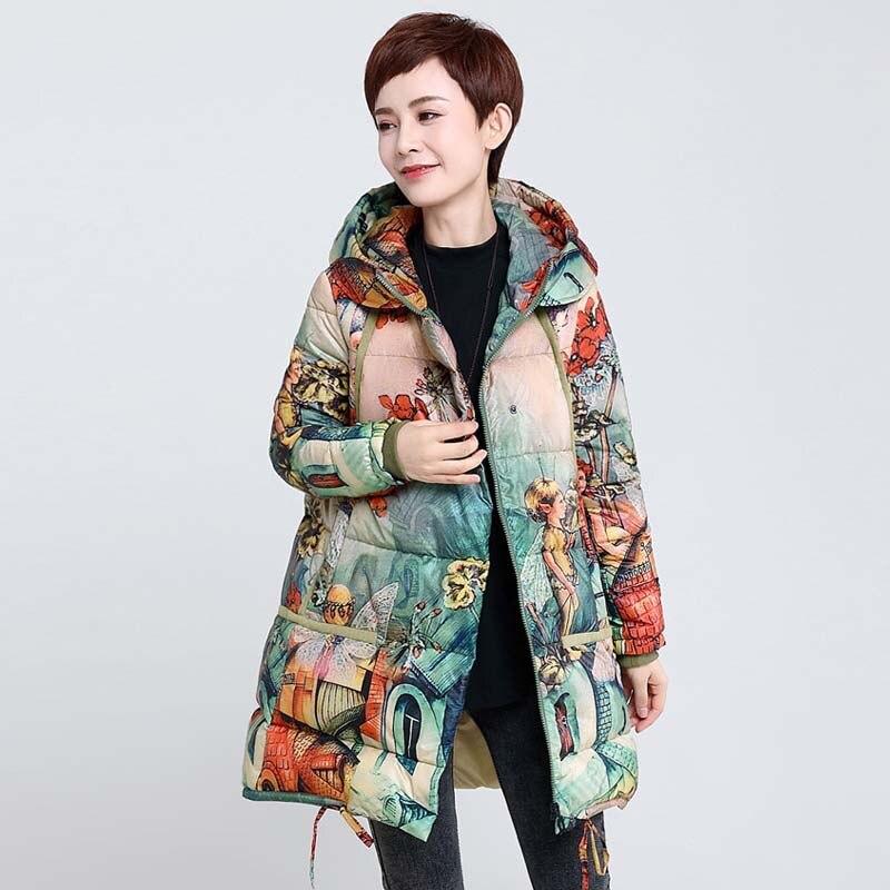 Plus Ynzzu D'hiver Canard Impression Vintage Taille Neige fv6Yb7gy