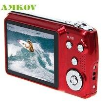 Amkov CDOE3 2.7 Дюймов 3X Оптическим Зумом Подарков Flash micphone 15MP HD Anti-shake Цифровая Видеокамера Красивый Gift_KXL0417
