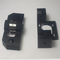 Upgrade Lulzbot TAZ 3D printer Parts metal aluminum alloy X stepper motor mount+X axis bearing mount kit