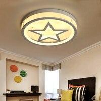 Пятиконечная звезда светодиодный потолочный светильник детская комната спальня круглый светодиодный потолочный светильник мультфильм де