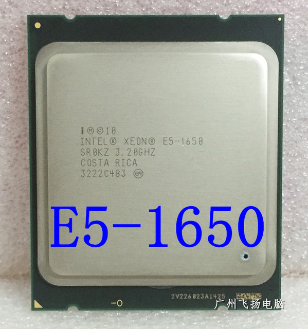 US $102 0 |Intel Xeon E5 1650 E5 1650 3 2GHz 6 Core 12Mb Cache Socket 2011  CPU Processor SR0KZ free shipping-in CPUs from Computer & Office on