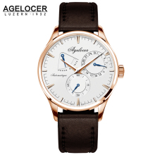 New Design Men Army Military Watch Agelocer Men s Watches White Dashboard Automatic Movement Power Reserve