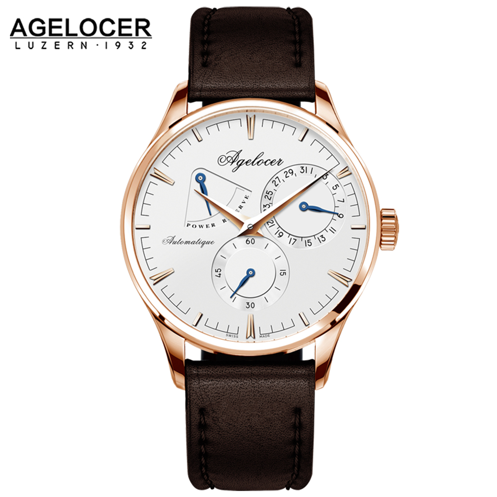 New design Swiss army watch Agelocer men s watches white dashboard role