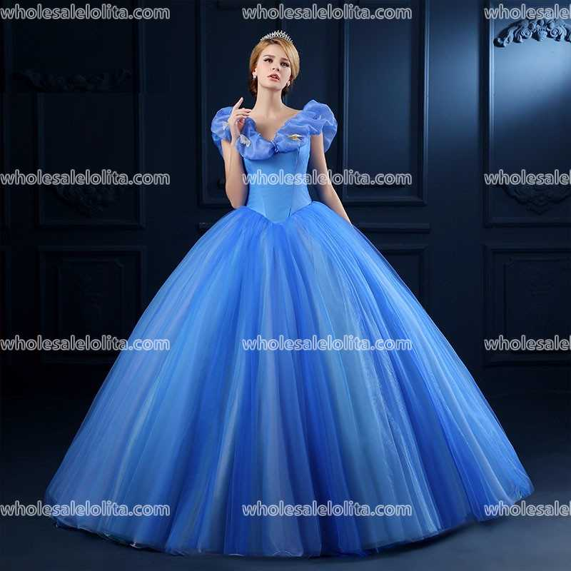 Top Sale Blue Organza Princess Dress Ball Gown Appliques Victorian In Dresses From Womens Clothing Accessories On Aliexpress