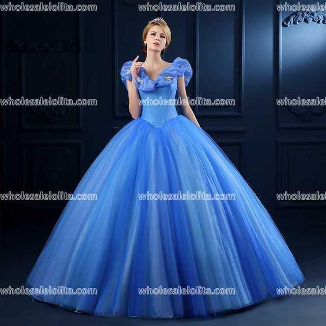 Top Verkauf Blau Organza Prinzessin Kleid Ballkleid Appliques ...