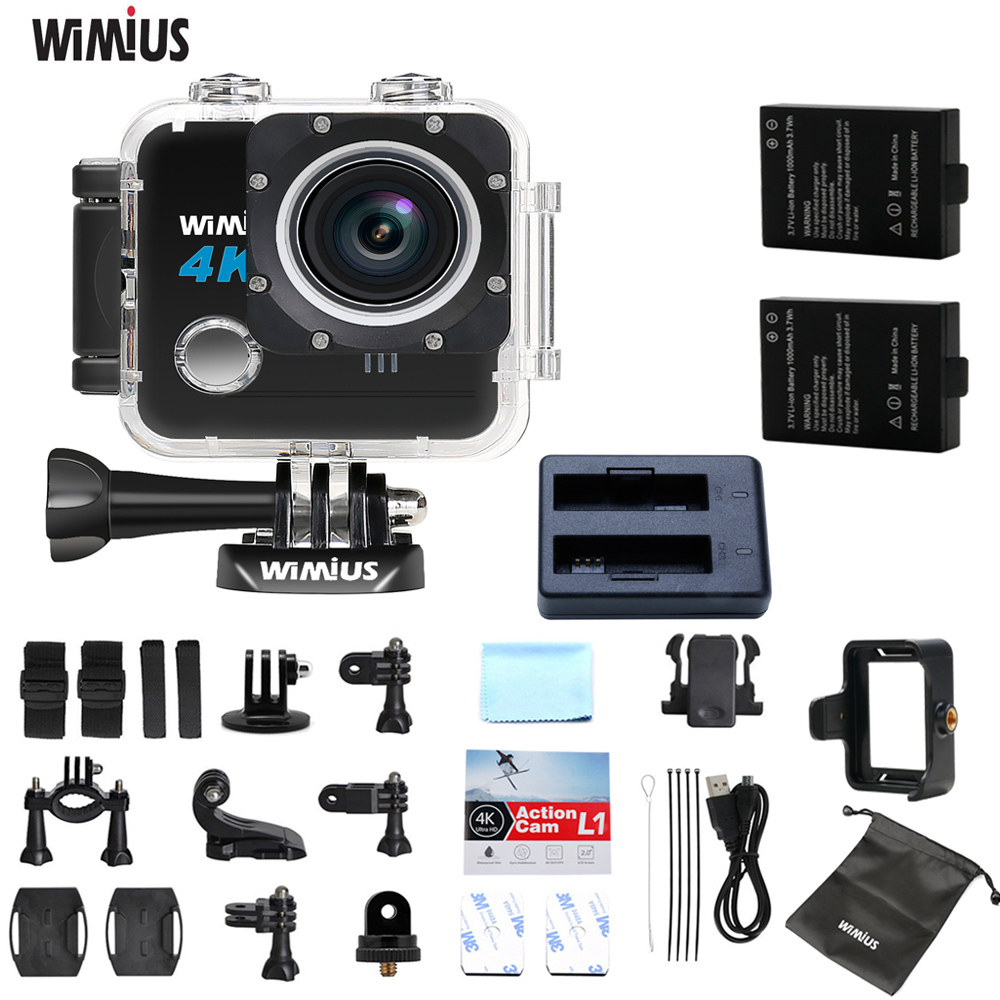 Wimius 4k FPV Sports Action Camera Full HD Wifi Video Digital Camcorder Go Waterproof 40M Pro Wearable Small Dash Cam Underwater original eken action camera eken h9r h9 ultra hd 4k wifi remote control sports video camcorder dvr dv go waterproof pro camera