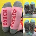 Calcetines Hombres Mujeres Carta Personalizada de Impresión Multi-Color de Alta Calcetines DM #6