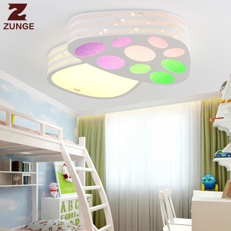 ZUNGE simple modern led ceiling lamp P610 warm room light study room LED round child lamp